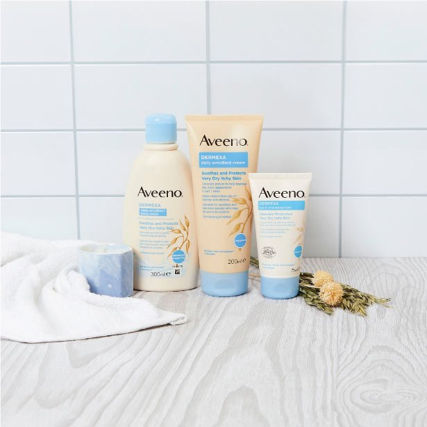 Aveeno® Dermexa räckvidd